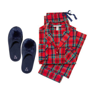 Victoria's Secret Flannel PJ Pajama set plaid red